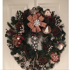 🌲😊Handmade X-Lg Lit Holiday Wreath